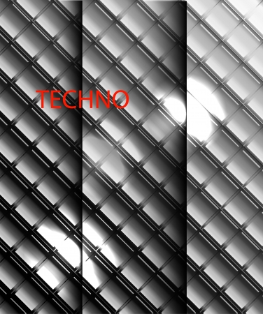 Vector metal mosaics background Vector