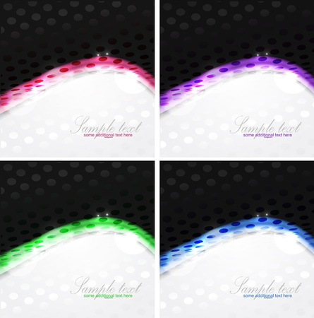 Dotted shiny wave background Vector