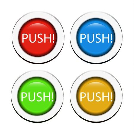 Vector push buttons Stock Vector - 18053594
