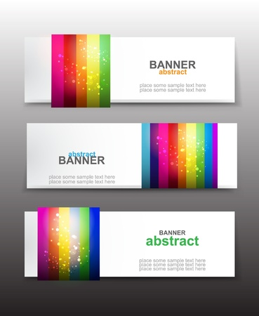 Vector set of rainbow colorful banners