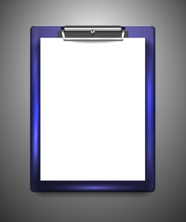 the list plan: Vector clipboard with blank paper Illustration