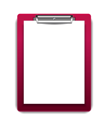 clipboard isolated: Vector clipboard with blank paper Illustration