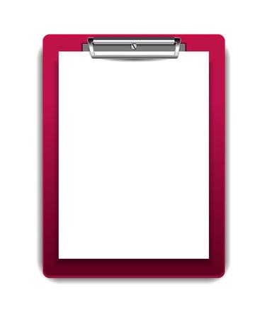 portapapeles: Vector sujetapapeles con el papel en blanco