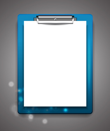 clipboard: Vector clipboard with blank paper Illustration