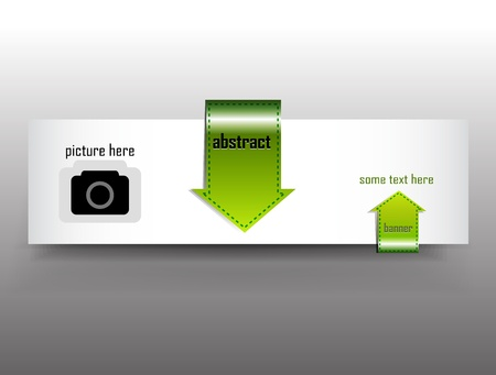 Vector arrow banner Vector