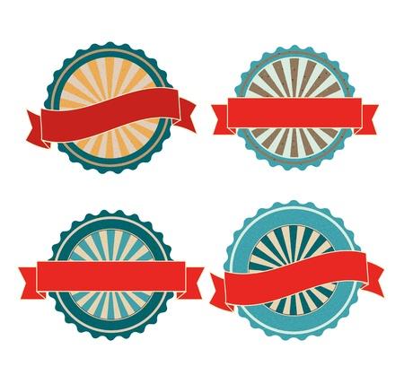 Blank retro vector vintage badges Ilustrace