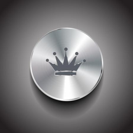 vip symbol: metal cepillado bot�n corona