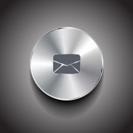 Vector e-mail button Ilustrace