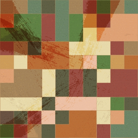 Vector mosaic retro vintage background Vector