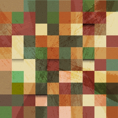 Vector mosaic retro colorful background Vector