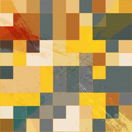 Vector mosaic retro bright background Vector