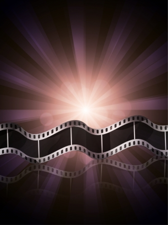 undressing: Vector film strip ciinema background Stock Photo