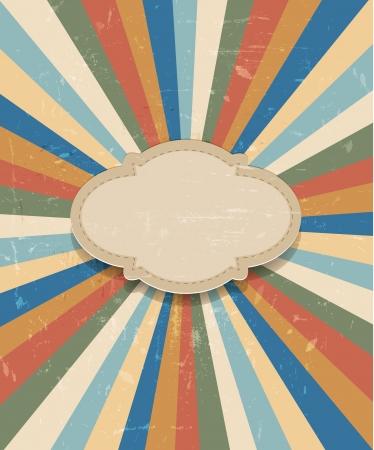 Grunge retro sunburst background