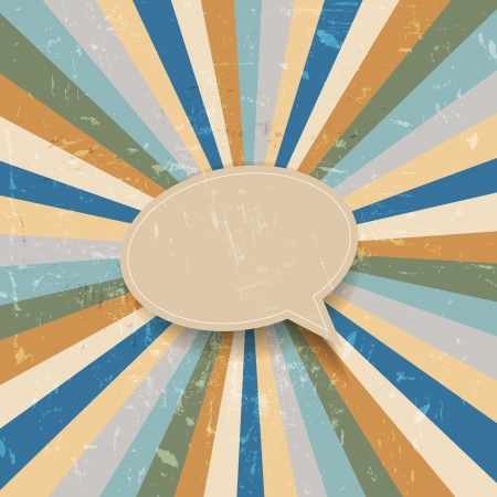 Grunge retro sunburst background