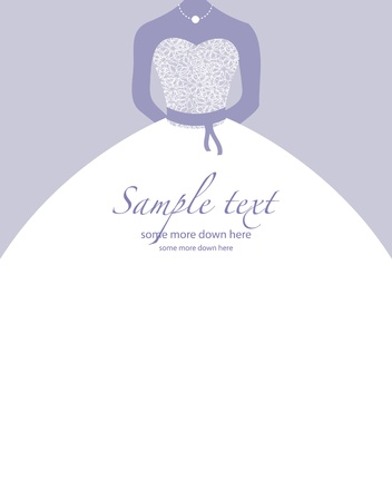 bridal veil: Soft wedding background Illustration
