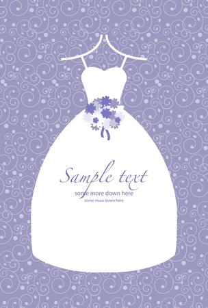 Retro bruid in een witte jurk bruiloft achtergrond
