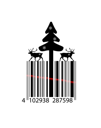 Creative Christmas bar code Vector