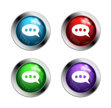 shiny buttons: Shiny speech bubble buttons: red, green and blue