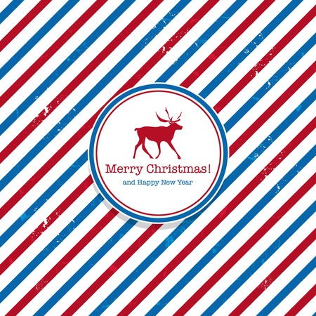 Christmas Santa post red and blue deer mail background photo