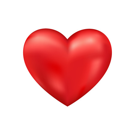 cuore: Lucido 3d vettore cuore. San Valentino sfondo romantico Archivio Fotografico
