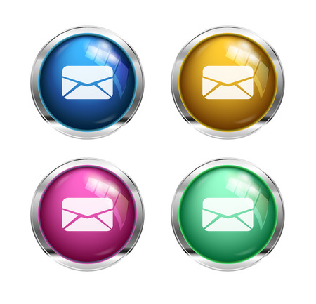 message  letter buttons: blue, yellow, pink and green photo