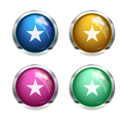 addendum: star buttons: blue, yellow, pink and green