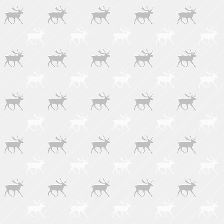 Gray and white reindeer background. Abstract seamless pattern