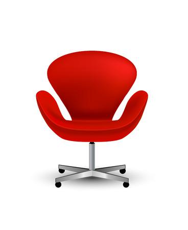 Icono de sillas de oficina vector semi-realistas aislar en blanco