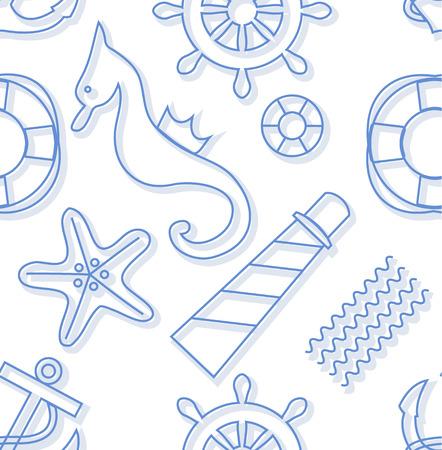 shapes cartoon: Sin fisuras de fondo marino: formas divertidas de la historieta fijados