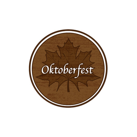 bier festival: Brown Oktoberfest stamp simple abstract holiday illustration