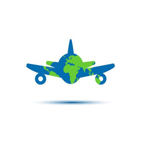 minimalistic: Abstract colorful minimalistic air plane