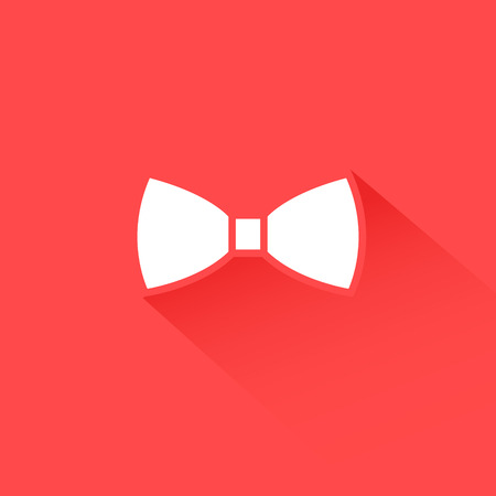 Flat long shadow bow tie icon design abstract
