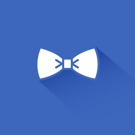 business symbols: Flat long shadow bow tie icon design abstract