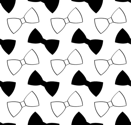 Seamless black and white bow tie pattern abstract