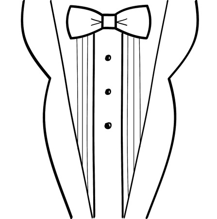 sketchy: Abstract hand-drawn sketchy black and white tuxedo design Illustration