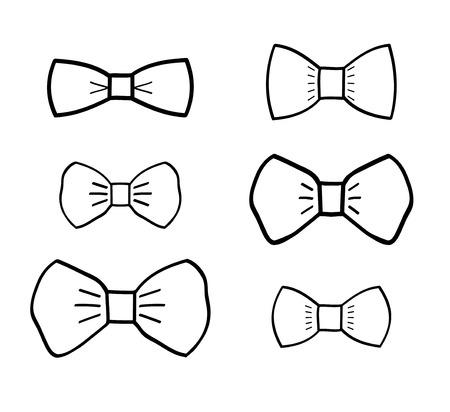 handdrawn: Hand-drawn bow ties set vector minimal design