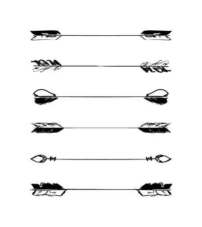 scribble: Retro scribble hand-drawn dividers set black collection
