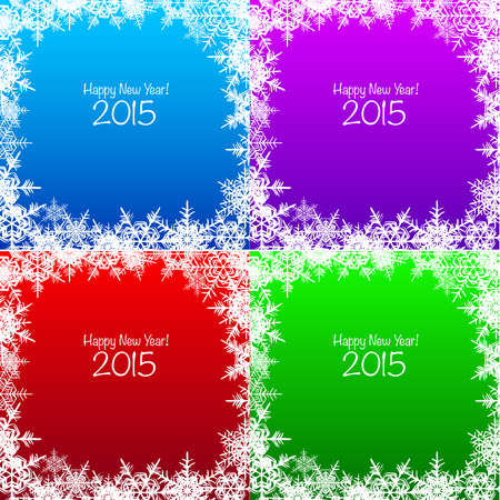 snowflake background: Set of shiny Christmas snowflake backgrounds holiday designs