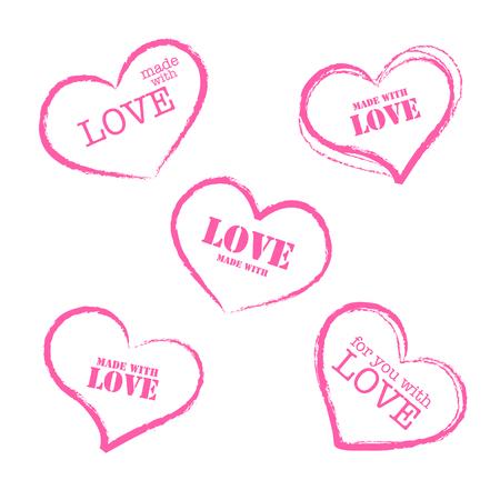 retro grunge: Grunge retro stamp made with love heart shape icon