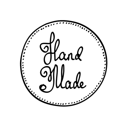Hand-drawn retro vector hand-made badge stylized icon