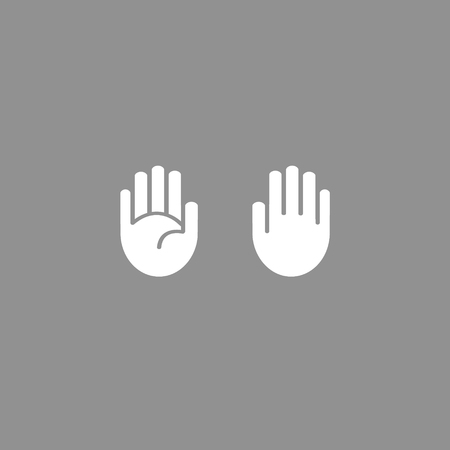 hand outline: Vector hand icon outline. Palm and outer part