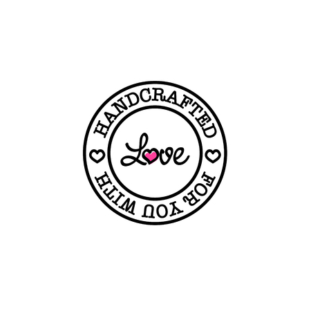 artisan: Hand-made for you with love retro badge design Illustration