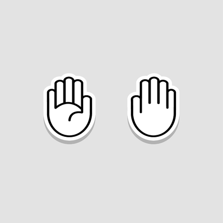handdrawn: Hand-drawn hand palm sketchy doodle icons