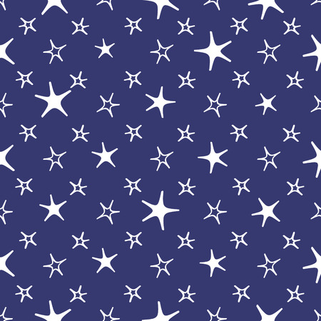 sweet dreams: Seamless blue and white stars and moon baby night background. sweet dreams pattern