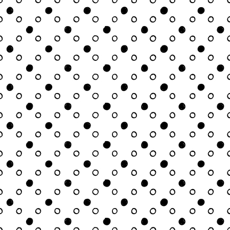 repeat structure: Abstract seamless circles pattern. Black and white geometric background Illustration