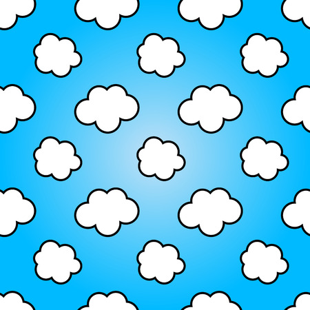 summer nature: Clouds in blue sky. Nature sunny summer background design