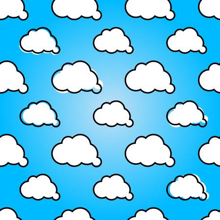 summer sky: Clouds in blue sky. Nature sunny summer background design