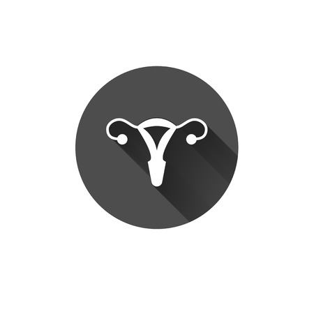 fertility emblem: uterus outline healthcare gynecology icon design