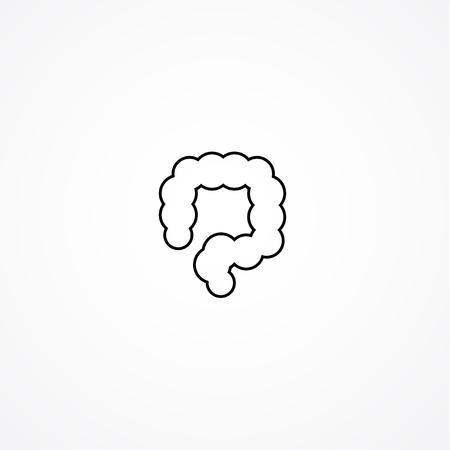 transverse: colon simple icon. Human internal abdomen organs