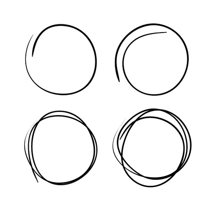 abstract scribble: Vector hand-drawn scribble circles abstract doodle set for your design